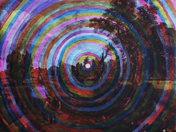Centrum akryl na wydruku na canavas, 40 x 30 cm 2013