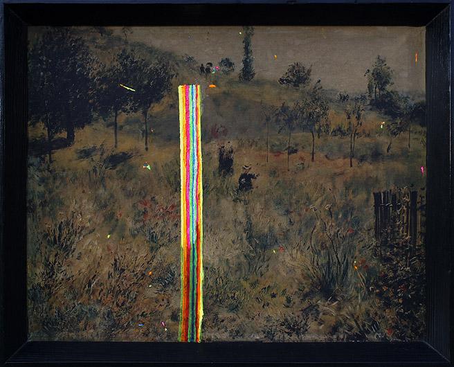 Zabawa z Renoirem akryl na wydruku na płótnie, 55 x 40 cm 2013