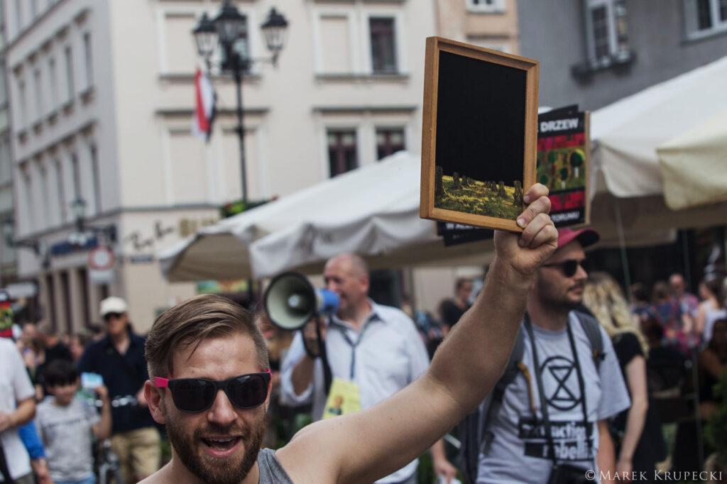 STOP Wycince Drzew na Placu Rapackiego, Toruń, 7.06.2019, fot. Marek Krupecki
