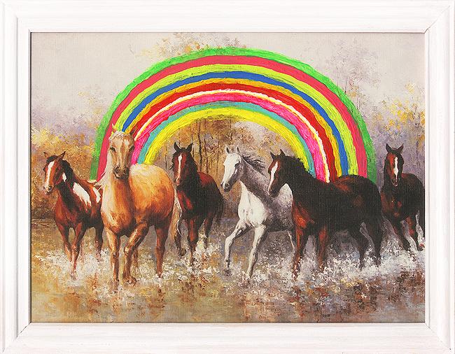 Tęcza nad konikami / Rainbow over horses