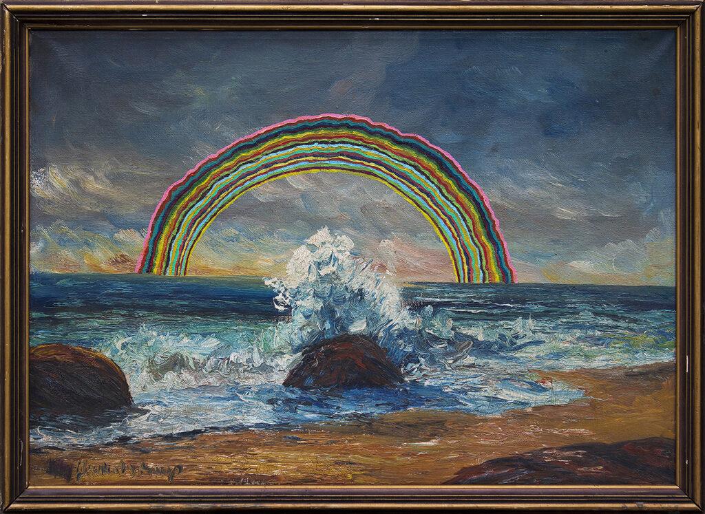 Nieznane wybrzeże z tęczą / Unknown coastline with rainbow