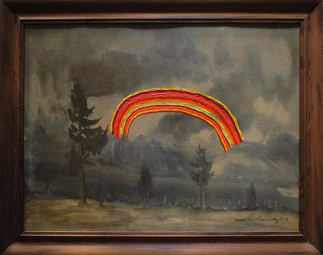 Tęcza Eli akryl na płycie pilśniowej, 70 x 50 cm 2013