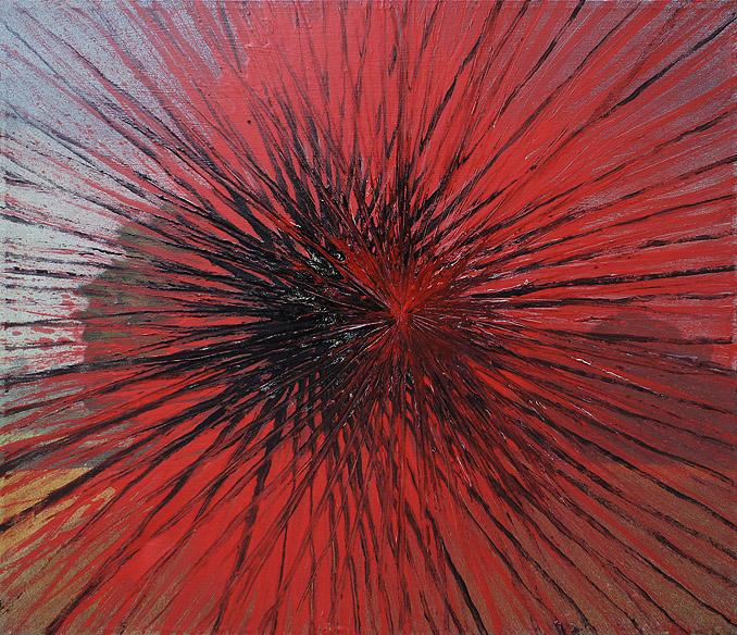 Perspektywy się pierdolą akryl na olej na płótnie, 100 x 80 cm 2013