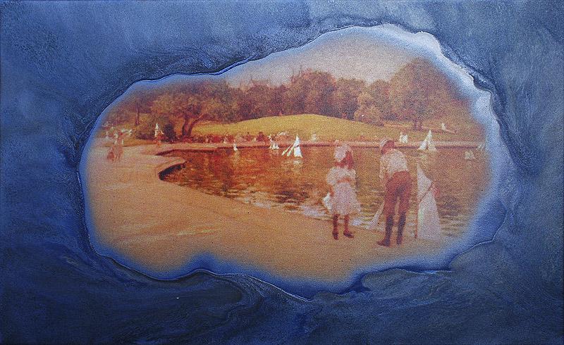 Staw akryl na wydruku na płótnie, 35 x 60 cm 2013