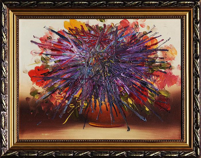 Fcuk kwiat olej na olej na płótnie, 50 x 40 cm 2014