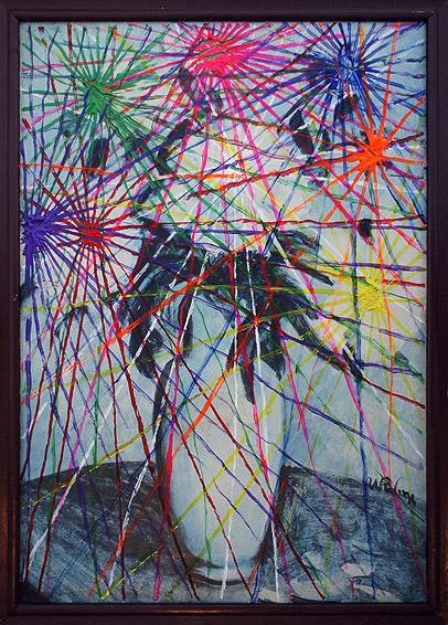 Słonecznik akryl na płycie pilśniowej, 45 x 60 cm 2013