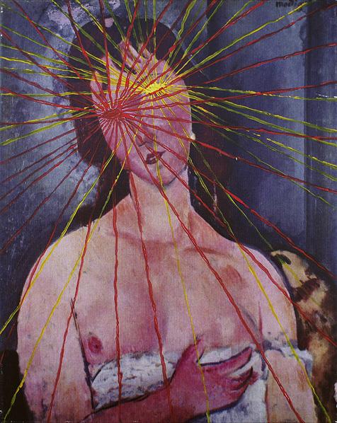 Twoje światło rozjaśnia moje ciemności akryl na płótnie, 50 x 40 cm 2013