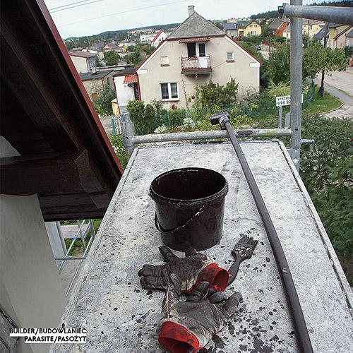Builder - Budowlaniec - Art Sztuka - Work Praca - Project Projekt - Parasite / Pasożyt - note / notka 2