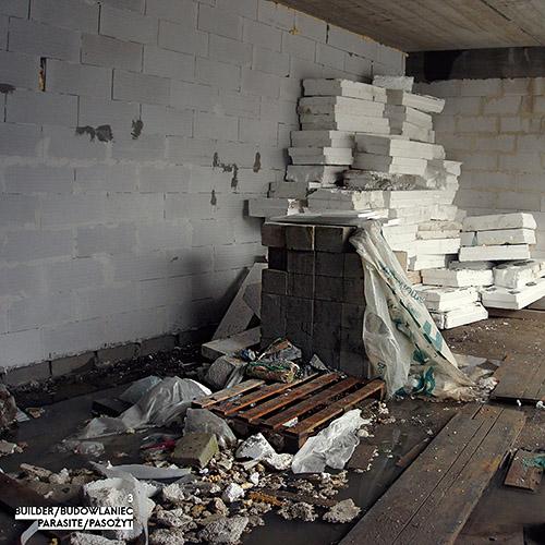 Builder - Budowlaniec - Art Sztuka - Work Praca - Project Projekt - Parasite / Pasożyt - note / notka 3