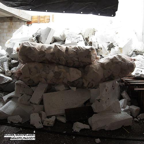 Builder - Budowlaniec - Art Sztuka - Work Praca - Project Projekt - Parasite / Pasożyt - note / notka 6