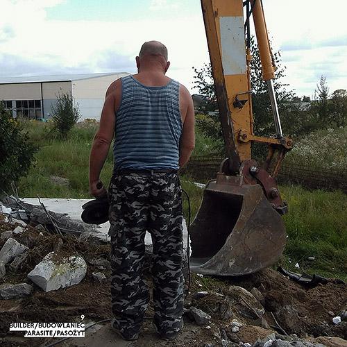 Builder - Budowlaniec - Art Sztuka - Work Praca - Project Projekt - Parasite / Pasożyt - note / notka 9