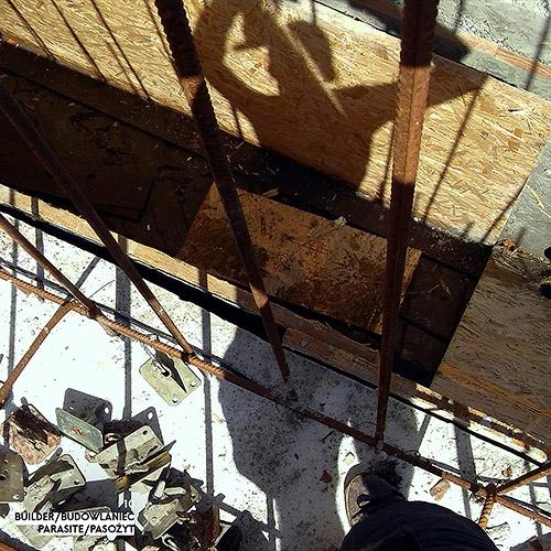 Builder - Budowlaniec - Art Sztuka - Work Praca - Project Projekt - Parasite / Pasożyt - note / notka 10