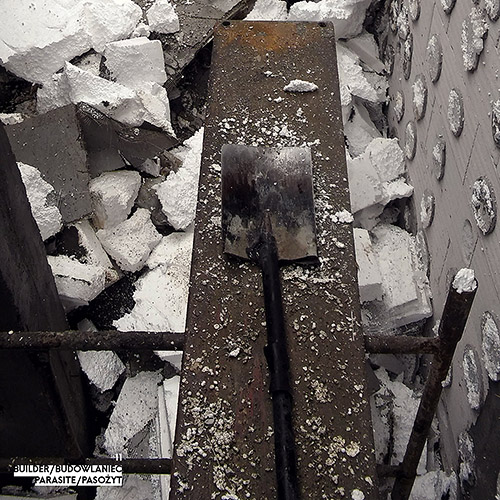 Builder - Budowlaniec - Art Sztuka - Work Praca - Project Projekt - Parasite / Pasożyt - note / notka 11
