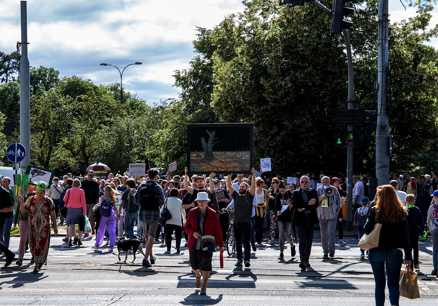 STOP Wycince Drzew na Placu Rapackiego / część II #bezcieniasensu, Toruń, 5.07.2019, fot. Marek Krupecki