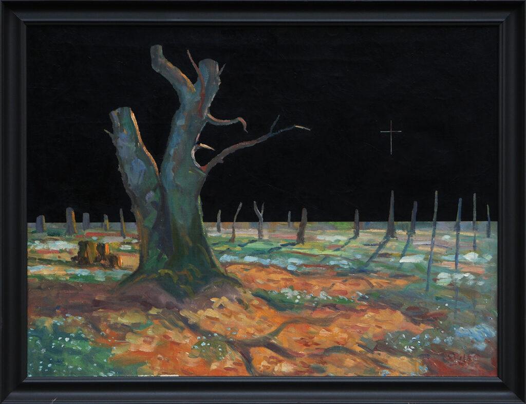 Krajobraz antropocenu (drzewo z krzyżem) / Anthropocene's landscape