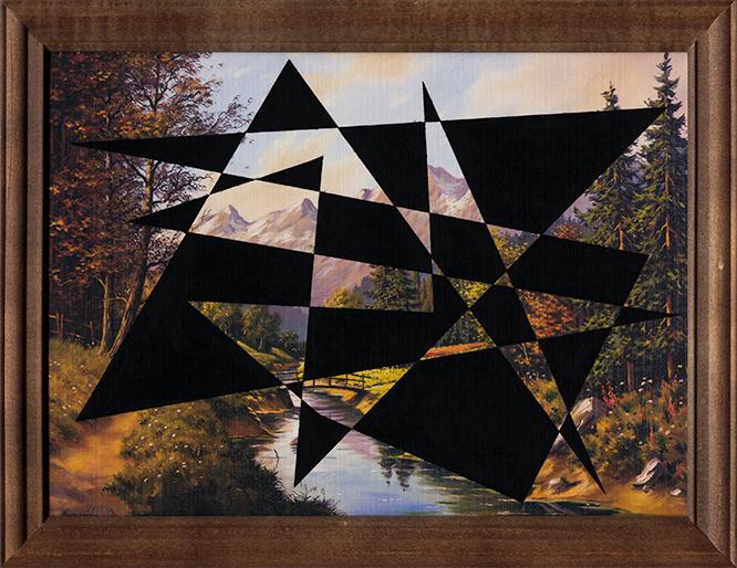 Kompozycja pejzażowa (Czarne X) / Landscape composition (Black X)